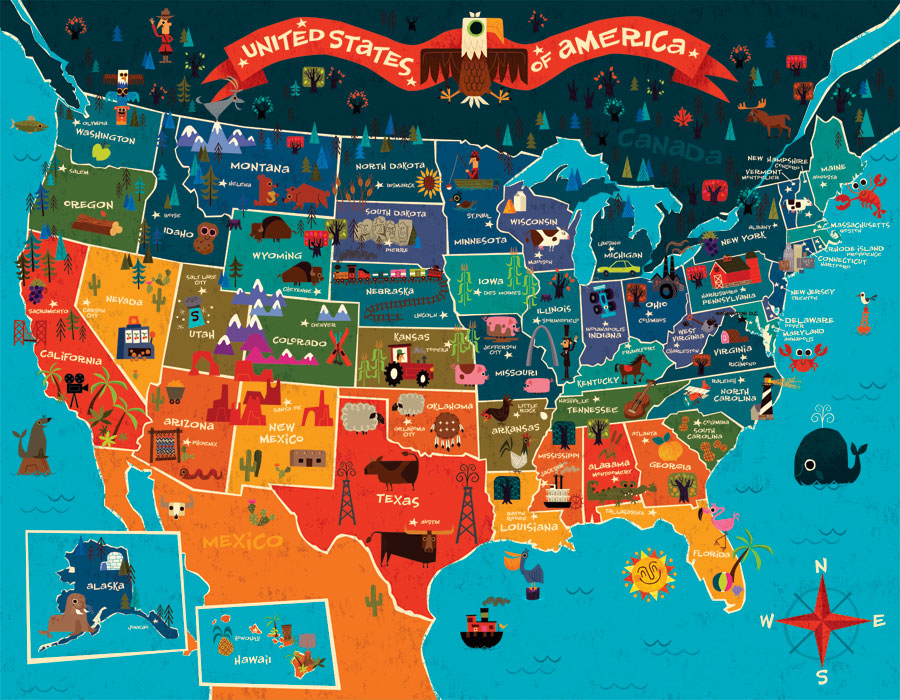 Why Not USA Work And Travel Szkoła W USA Mapa USA - Usa mapa